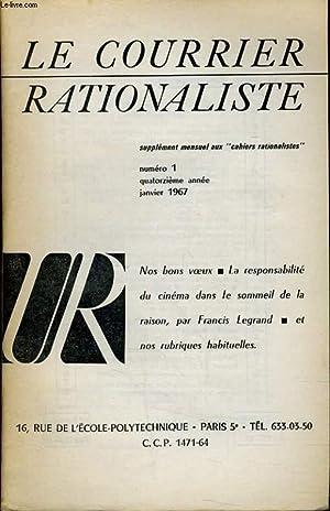 """LE COURRIER RATIONALISTEn°1 (supplément mensuel aux """"cahiers rationalistes"""") :..."""