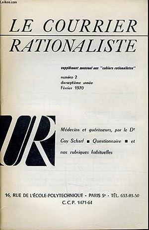 """LE COURRIER RATIONALISTEn°2 (supplément mensuel aux """"cahiers rationalistes"""") :..."""