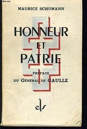 HONNEUR ET PATRIE: MAURICE SCHUMANN