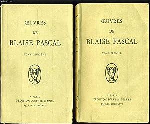 OEUVRES DE BLAISE PASCAL en 2 tomes: BLAISE PASCAL