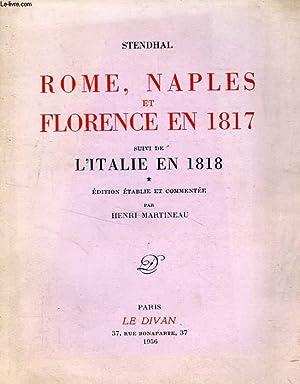 ROME, NAPLES ET FLORENCE EN 1817, Suivi: STENDHAL, Par H.