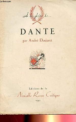 A LA GLOIRE DE DANTE: ANDRE DODEBERT