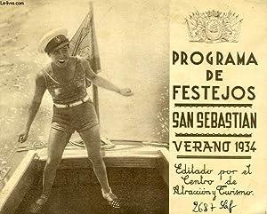 PROGRAMA DE FESTEJOS, SAN SEBASTIAN, VERANO 1934: COLLECTIF