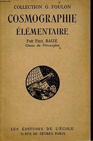 COSMOGRAPHIE ELEMENTAIRE: BAIZE PAUL