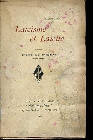 LAICISME ET LAICITE: MAURICE LIGOT