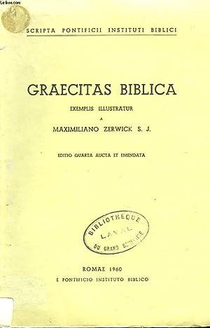 GRAECITAS BIBLICA: MAXIMILIANO ZERWICK, S.J.