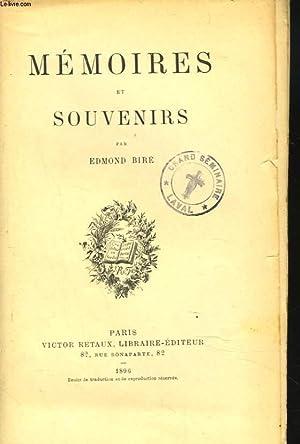 MEMOIRES ET SOUVENIRS. Mémoires de l'Abbé Lambert,: EDMOND BIRE