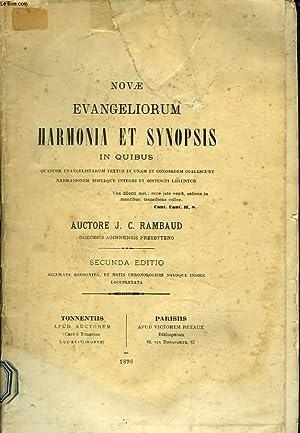 NOVAE EVANGELIORUM HARMONIA ET SYNOPSIS IN QUIBUS: J.C. RAMBAUD
