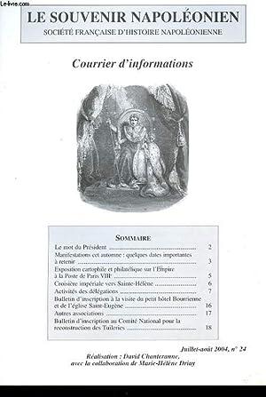 LE SOUVENIR NAPOLEONIEN. COURRIER D'INFORMATION. N°24. EXPOSITION: COLLECTIF