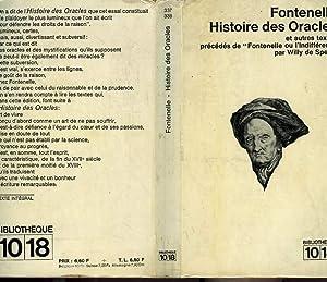 HISTOIRE DES ORACLES: FONTENELLE
