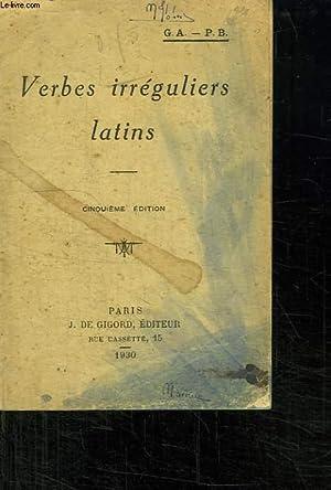 VERBES IRREGULIERS LATINS. CINQUIEME EDITION.: COLLECTIF.