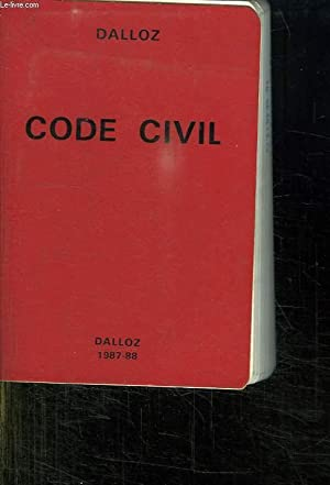CODE CIVIL. 87 EM EDITION.: DALLOZ.