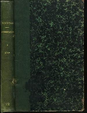 LA LITTERATURE FRANCAISE PAR LA DISSERTATION. IV.: M. ROUSTAN