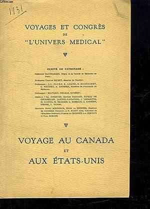 VOYAGES ET CONGRES DE L UNIVERS MEDICAL.: COLLECTIF.