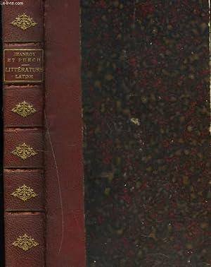 HISTOIRE DE LA LITTERATURE LATINE: ALFRED JEANROY, AIME PUECH