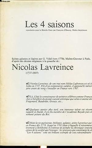LES 4 SAISONS, SCENES GALANTES ET LEGERES ( GRAVURES ): G. VIDAL