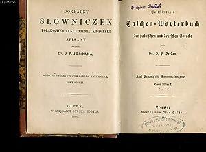 BOLLFTANBIGES TALCHEN-WORTERBUCH. DER POLNIFCHEN UND DEUTFCHEN GPRACHE. NEUER EBDRUD: DR JORDANA J....