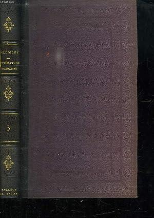 HISTOIRE DE LA LITTERATURE FRANCAISE AU DIX SEPTIEME SIECLE. TOME 3.: FOLLIOLEY L ABBE L.
