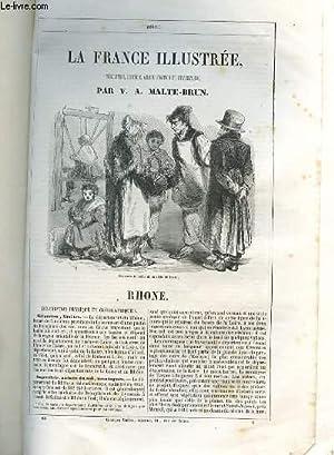 LA FRANCE GEOGRAPHIQUE, HISTORIQUE ET ADMINISTRATIVE- RHONE.: MALTE-BRUN V.A.
