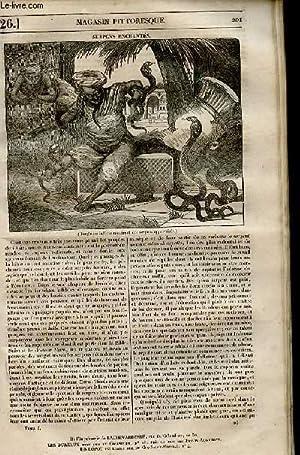 LE MAGASIN PITTORESQUE - Livraison n°0026 - Serpents enchantés.: Cazeaux Euryale et ...