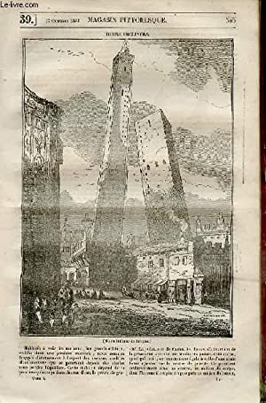 LE MAGASIN PITTORESQUE - Livraison n°0039 - Tours inclinées.: Cazeaux Euryale et Charton...