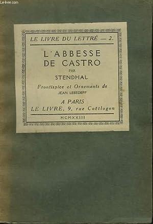 L'ABBESSE DE CASTRO: STENDHAL