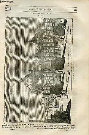 LE MAGASIN PITTORESQUE - Livraison n°047 - Cimetière musulman au Caire.: Cazeaux Euryale...