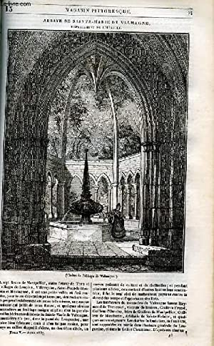 LE MAGASIN PITTORESQUE - Livraison n°013 - Abbaye de Sainte Marie de valmagne (Hérault)....