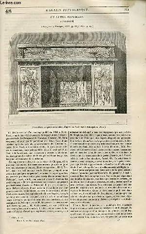 LE MAGASIN PITTORESQUE - Livraison n°048 - Un autel mexicain à Palenqué.: Cazeaux...