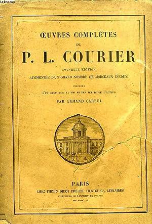 OEUVRES COMPLETES DE P. L. COURIER: COURIER P.-L.