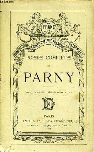 POESIES COMPLETES DE PARNY: PARNY