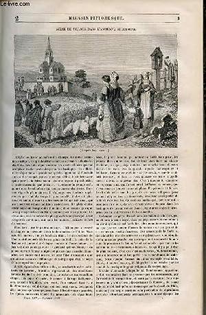 LE MAGASIN PITTORESQUE - Livraison n°002 - Scène de village dans l'ancienne ...