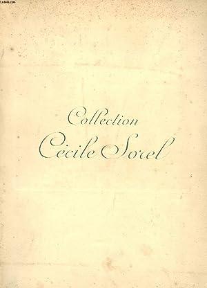 COLLECTION DE MME CECILE SOREL. OBJETS D'ART ET DE TRES BEL AMEUBLEMENT DU XVIIIe SIECLE ET ...
