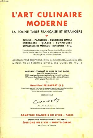 L'ART CULINAIRE MODERNE. LA BONNE TABLE FRANCAISE: HENRI-PAUL PELLAPRAT
