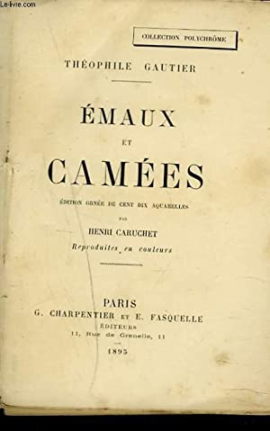EMAUX ET CAMEES: THEOPHILE GAUTIER