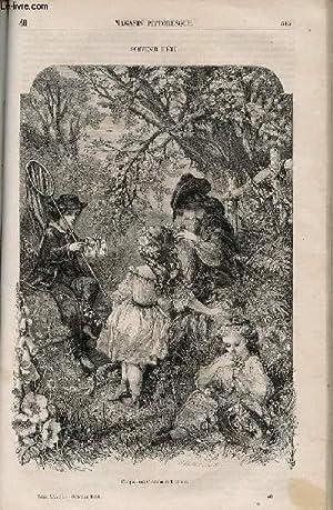 LE MAGASIN PITTORESQUE - Livraison n°040 - Souvenir d'été.: Cazeaux Euryale et Charton Edouard.