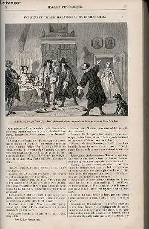 LE MAGASIN PITTORESQUE - Livraison n°008 - Une scène du théâtre hollandais ...