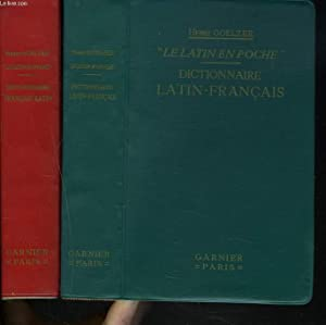 2 VOLULES : LE LATIN EN POCHE dictionnaire français- latin. + LE LATIN EN POCHE dictionnaire...