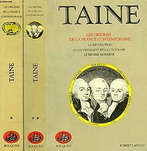 LES ORIGINES DE LA FRANCE CONTEMPORAINE, 2 TOMES: TAINE HIPPOLYTE