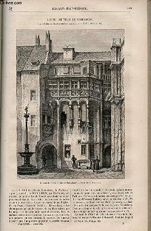 LE MAGASIN PITTORESQUE - Livraison n°032 - L'hôtel de ville de Nuremberg.: CHARTON ...
