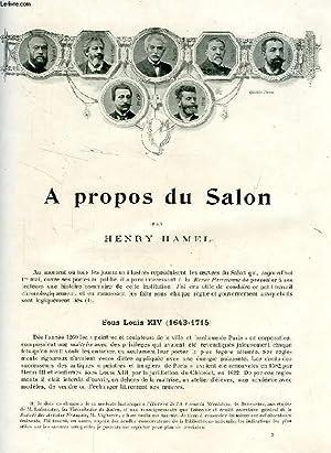 REVUE DE PARIS (EXTRAIT), A PROPOS DU SALON: HAMEL HENRY