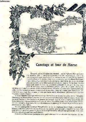 REVUE DE PARIS (EXTRAIT), CANOTAGE ET TOUR DE MARNE / A TRAVERS LES CIRQUES: HAMEL HENRY, FRICHET ...