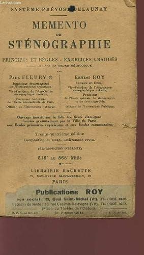 MEMENTO DE STENOGRAPHIE - PRINCIPES ET REGLES: FLEURY PAUL ET
