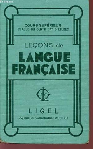 LECONS DE LANGUE FRANCAISE - COURS SUPERIEUR: COLLECTIF