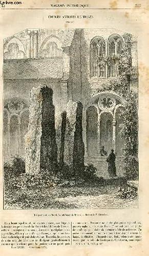 LE MAGASIN PITTORESQUE - Livraison n°35 - Edifices antiques de Trèves (Prusse).: CHARTON...