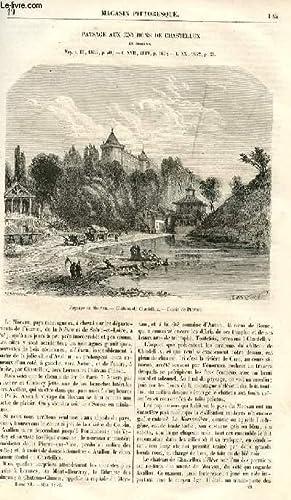 LE MAGASIN PITTORESQUE - Livraison n°19 - paysage aux environs de Chastellux en Morvan.: ...