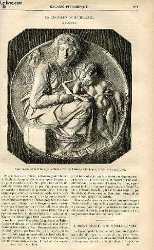 LE MAGASIN PITTORESQUE - Livraison n°16 - Un bas-relief de Michel Ange à Florence.: ...