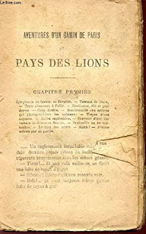 AVENTURES D'UN GAMIN DE PARIS AU PAUS DES LIONQ.: BOUSSENARD LOUIS