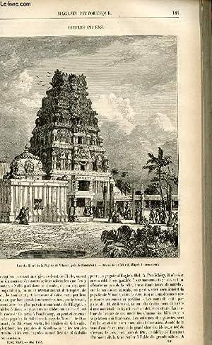LE MAGASIN PITTORESQUE - Livraison n°19 - Temples indiens.: CHARTON EDOUARD.