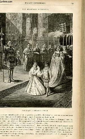 LE MAGASIN PITTORESQUE - Livraison n°40 - Les mariages d'enfants.: CHARTON EDOUARD.